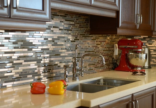 How To Cut Glass Tile Bob Vila Delectable Images Of Glass Tile Backsplash Interior