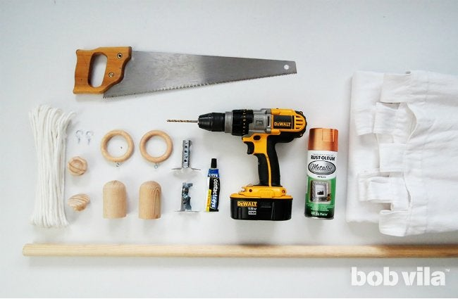 All You Need to Make DIY Curtain Rods, Finials, and Ties