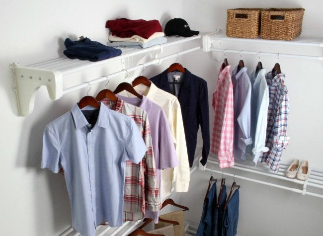 EZ Shelf White Walk-In Closet Organizer