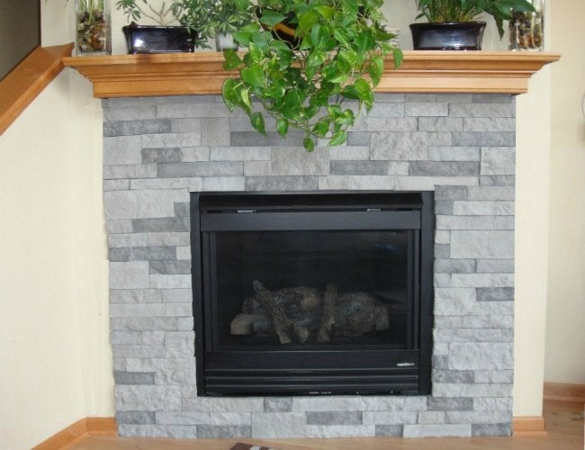 Fireplace Refacing with Veneer