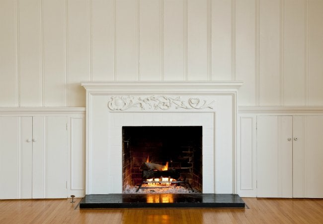 Fireplace Refacing with Wood