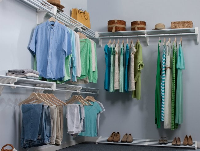 Walk-In Closet Shelving from EZ Shelf