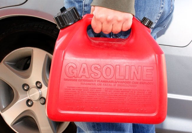 how to get rid of old gasoline