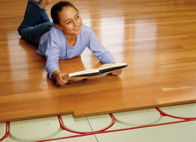 Underfloor heating alternative to traditional hvac bob for Warmboard alternative