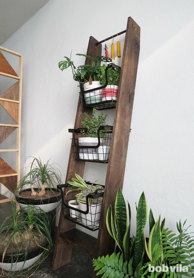 How To Make A Ladder Plant Stand Bob Vila: how to build a tiered plant stand