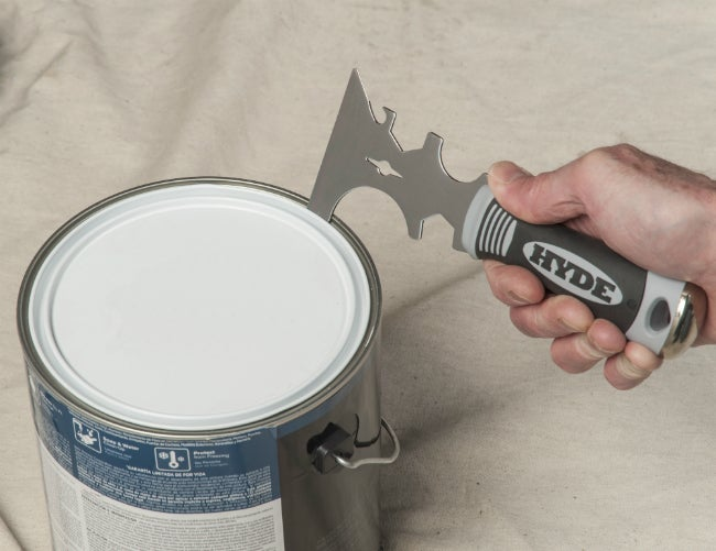 Easily Open Cans with the HYDE 17-in-1 Painter's Tool