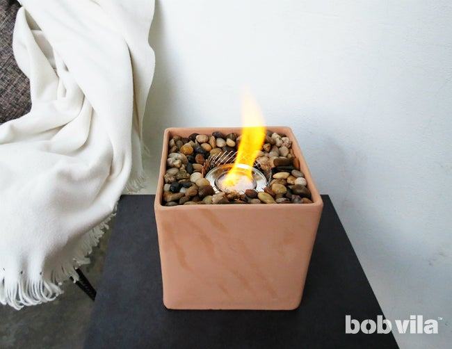 How to Make Your Own Tabletop Fire Pit