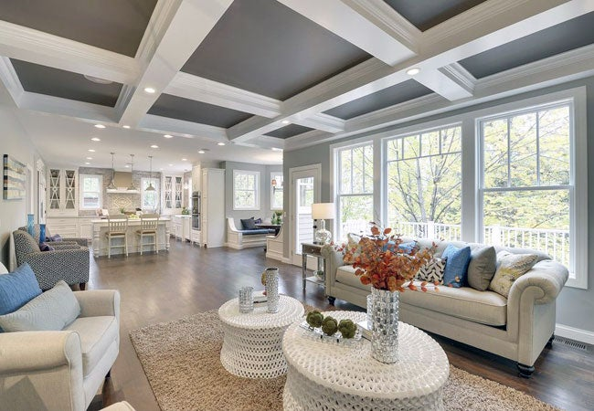 Coffered Ceilings on ranch house plans vaulted ceilings