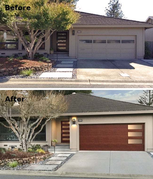 Attractive 3 Ways A New Garage Door Adds Curb Appeal