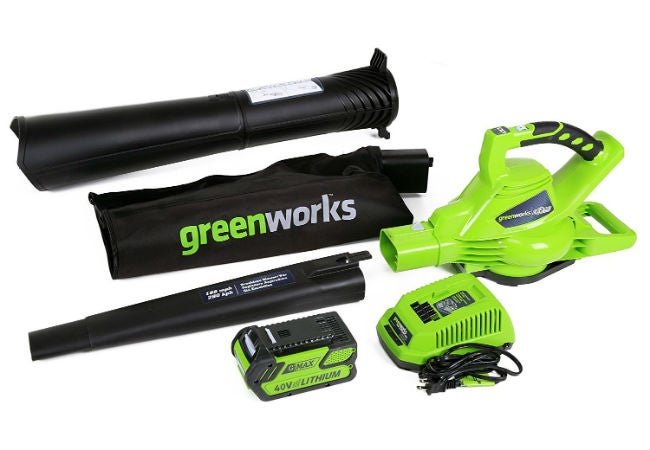 Best Leaf Vacuum for Yards and Gardens - Greenworks 24322 Cordless Blower/Vac