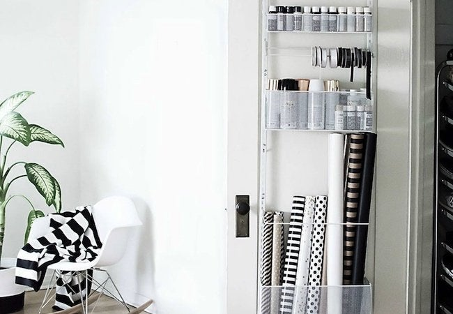 Small Closet Ideas - Door Organizer
