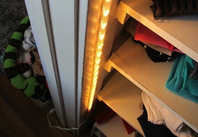 Small Closet Ideas - DIY Closet Lighting