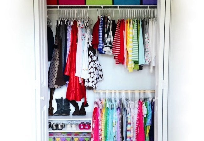 Small Closet Ideas Dual Rods