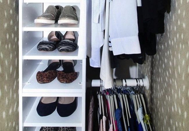 Small Closet Ideas - Built-in Shoe Cubbies