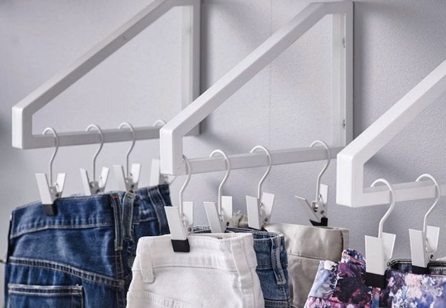 Small Closet Ideas - Shelf Bracket Hangers