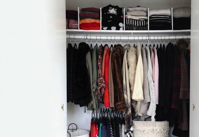 Small Closet Ideas - Shelf Dividers