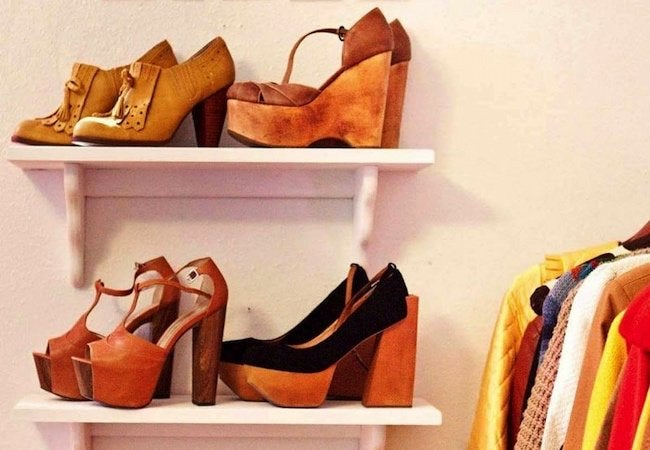Small Closet Ideas - Shoe Shelf Storage