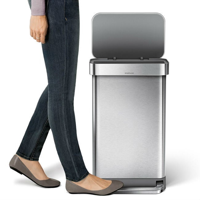 The Best Kitchen Trash Can   Simplehuman 45L Rectangular Step Trash Can