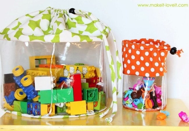 Toy Storage Ideas - Clear Storage Bags