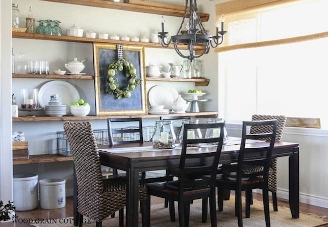 Small Dining Room Ideas   Open Shelves