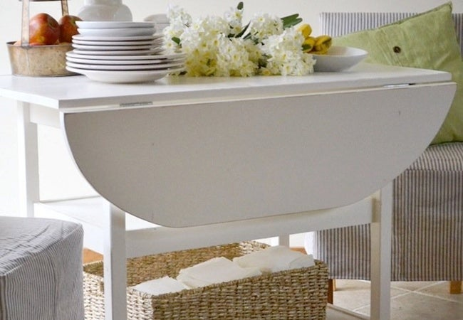 Small Dining Room Ideas - Dropleaf Table