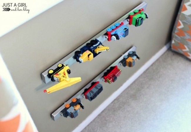Toy Storage Ideas - Magnet Wall Organizer