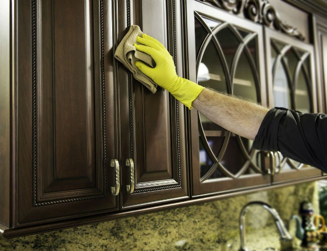 3 methods for how to remove grease from kitchen cabinets bob vila - How to remove grease stains from kitchen cabinets ...