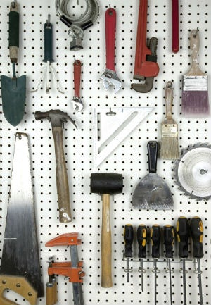 Garage Storage Ideas - Pegboard and Hooks