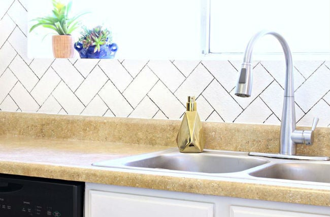 DIY a Removable Backsplash with Sharpie
