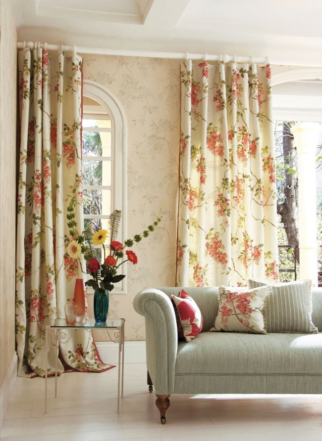 Fabric Wallpaper 101: When, Where, and How to Try This Temporary Wallpaper Trick