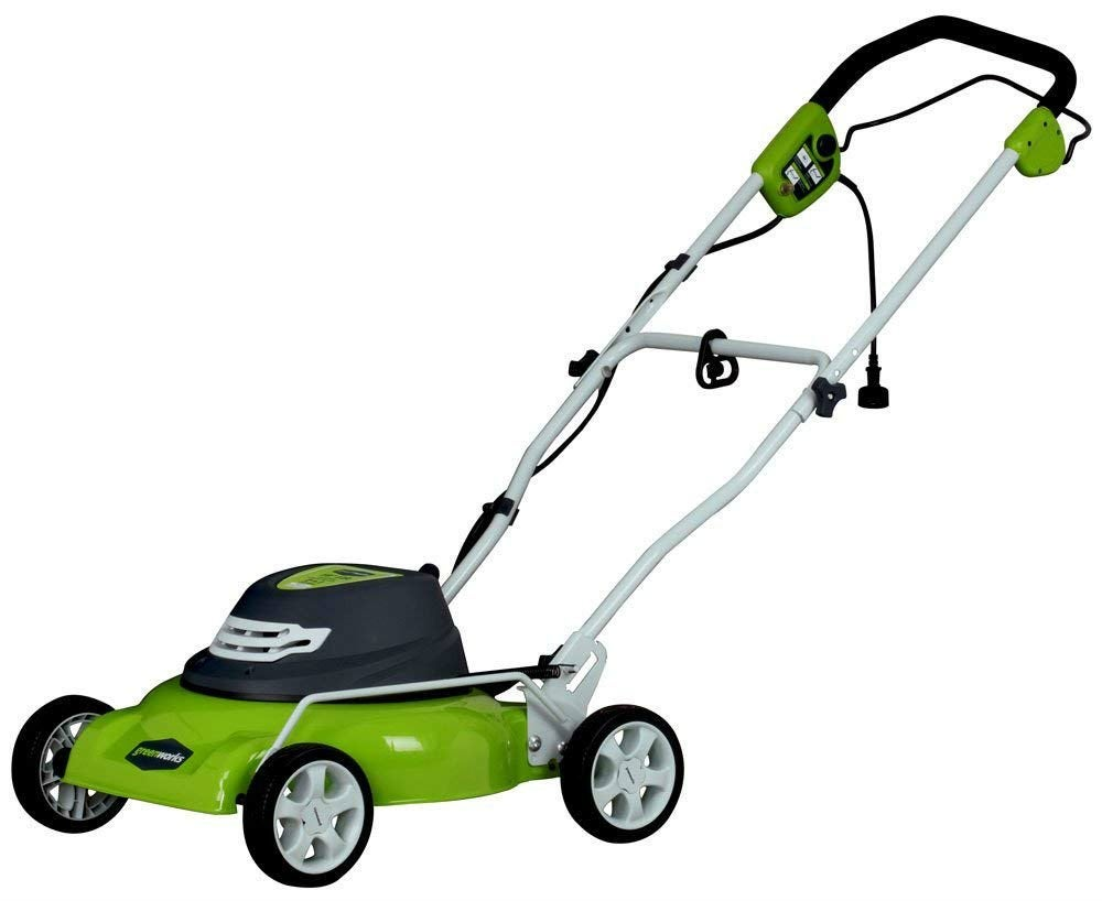 Overall Best Corded Mower: Greenworks 18-inch Corded Mower