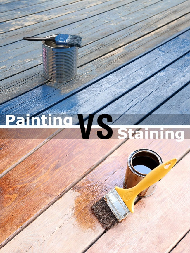 Painting vs Staining a Deck: The Better Finish for Your Structure