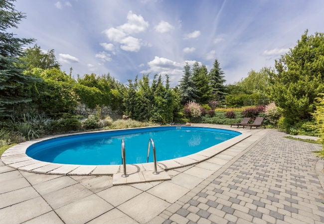 Concrete Paver and Brick Pool Decking