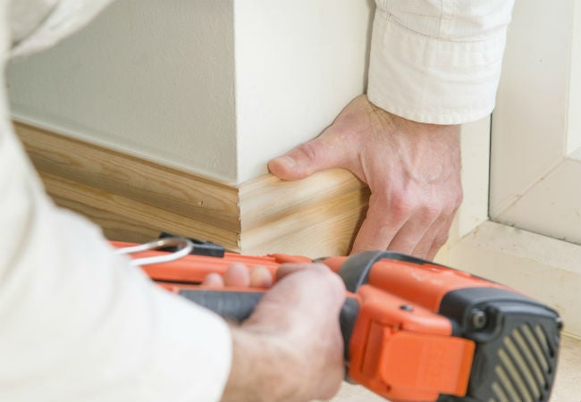 Installing Shoe Molding At Baseboards