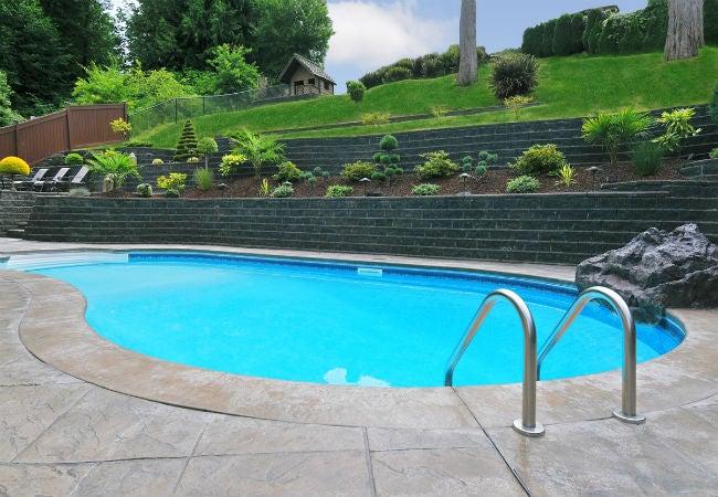 Stone Tile Pool Decking
