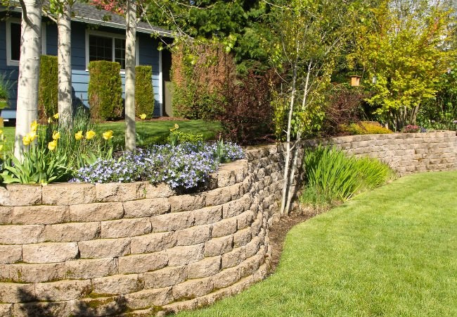 Ferndale Retaining Wall and Garden Wall Construction