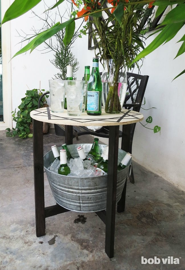 Makeover Your Patio with a Trellis, Cooler Table, and More