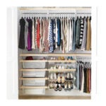 The Best Closet System Option: Elfa Décor 6' Birch & White Reach-In Clothes Closet