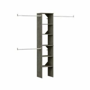 The Best Closet Systems Option: ClosetMaid Style Floor Mount 6-Shelf Closet Kit