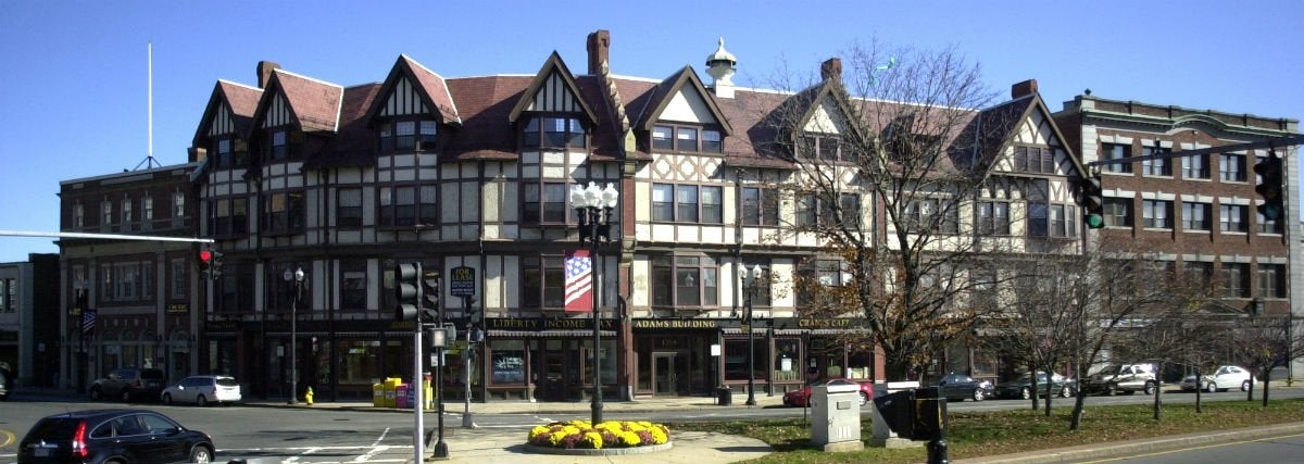 Famous Tudor Houses You Can See Today: The Adams Building