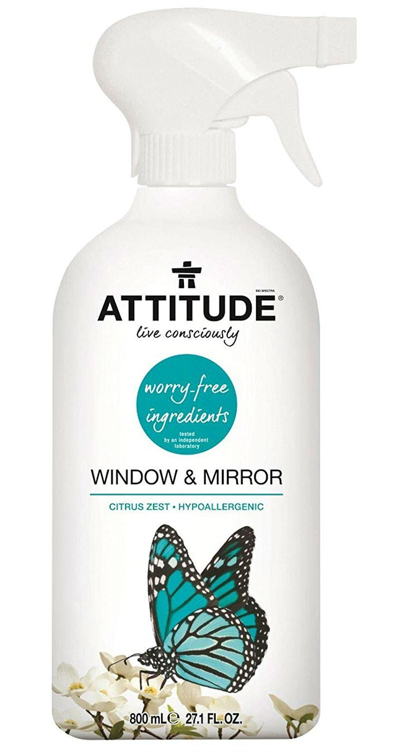 Best Natural Cleaning Products: Attitude's Window & Mirror Cleaner