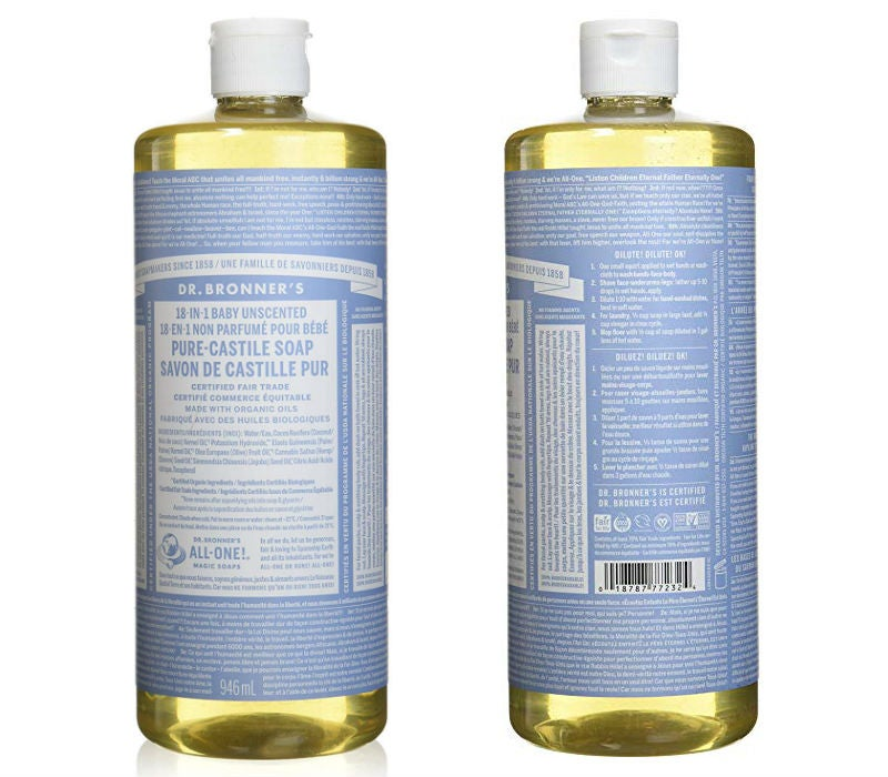 Best Natural Cleaning Products: Dr. Bronner's Liquid Castile Soap