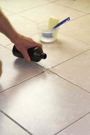 Clean Grout Stains In The Bathroom