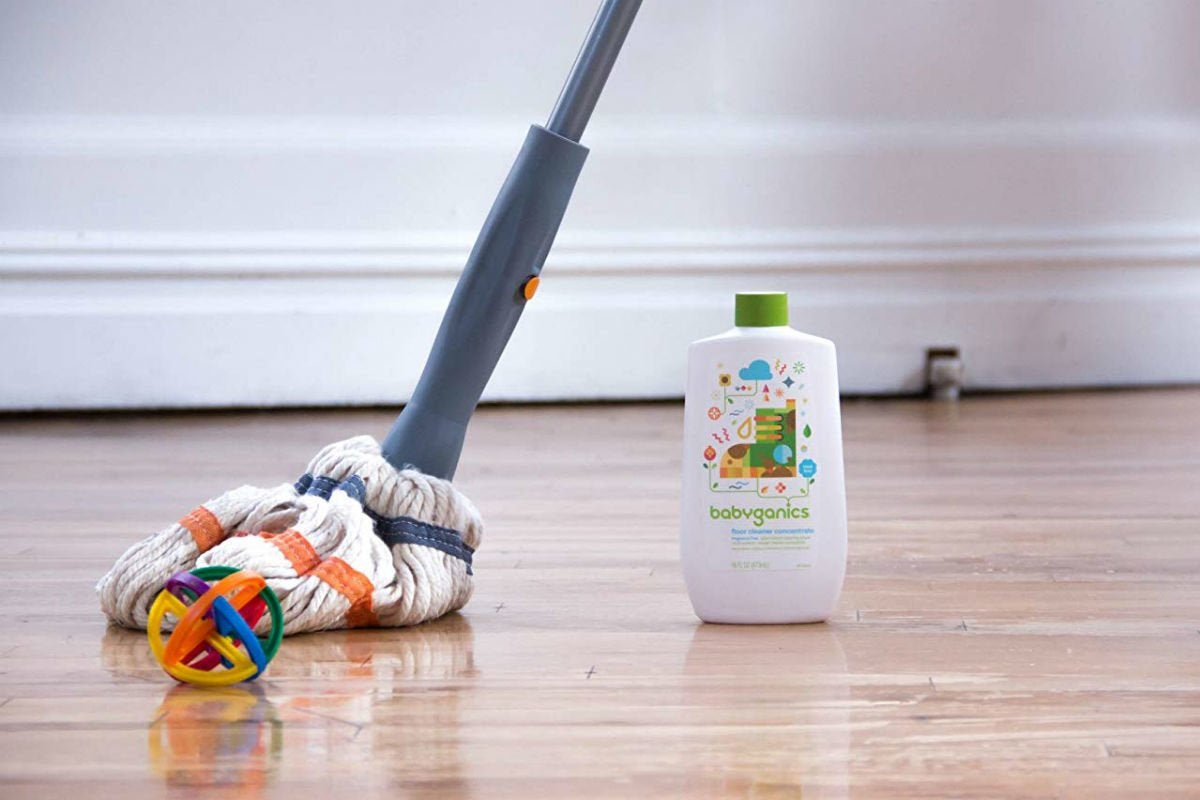 Best Hardwood Floor Cleaner for Skin or Smell Sensitivities: Babyganics
