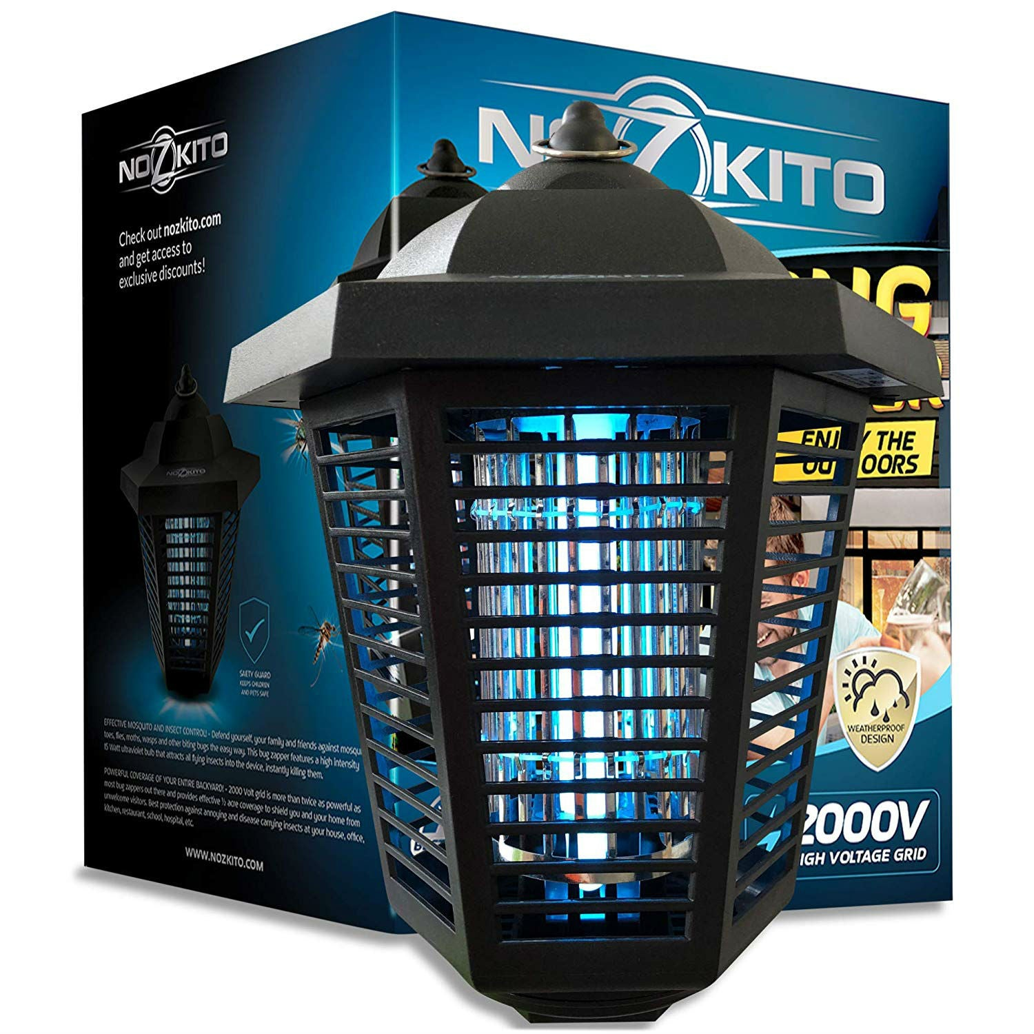 Best Bug Zapper for the Outdoors: Nozkito