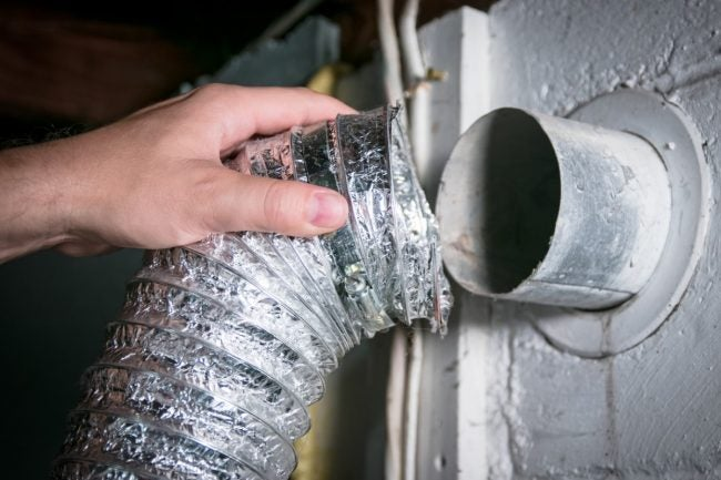 Prevent a Burning Smell from the Dryer By Eliminating Kinks in the Vent Hose