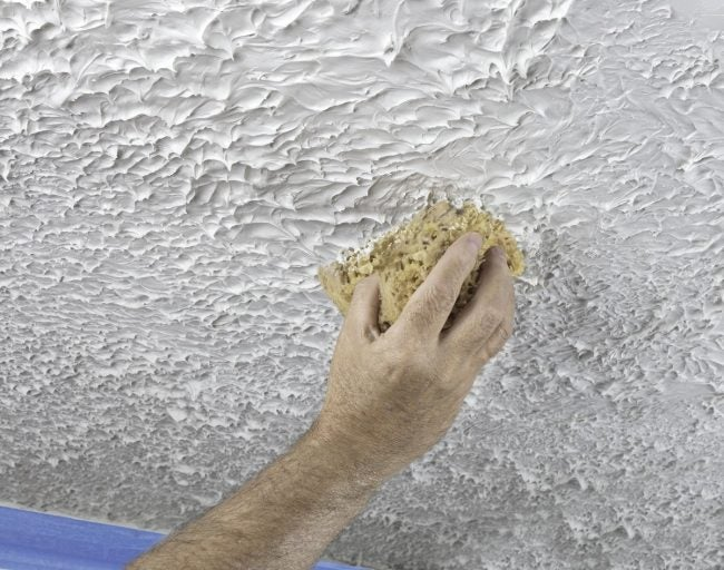 After Removing Popcorn Ceiling, Update the Texture