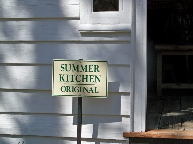 The History of the Summer Kitchen