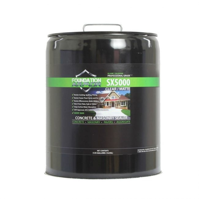 Best Penetrating Driveway Sealer for Concrete: Foundation Armor Clear Concrete Sealer