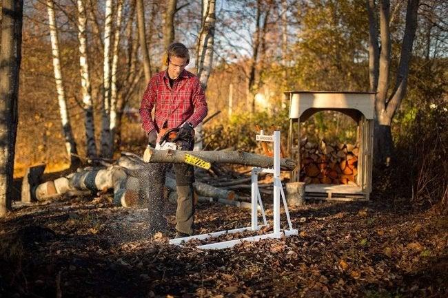 Best Sawhorse for Cutting Logs: Logosol